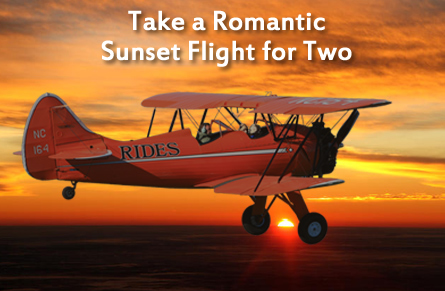 Take a sunset biplane ride for two